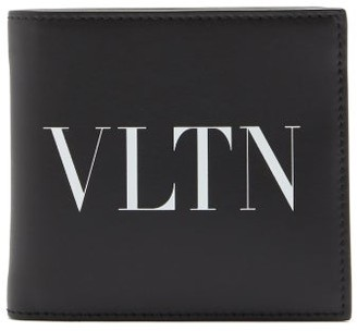 Valentino Logo-print Leather Bi-fold Wallet - Black