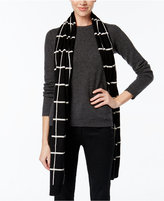 Charter Club Cashmere Windowpane-Print Scarf, Only at Macy's