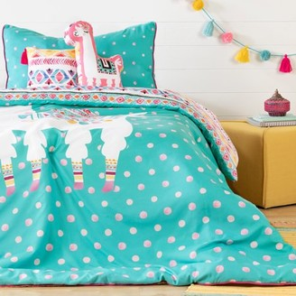 South Shore Dreamit Turquoise and Pink Kids Bedding Set Festive Llama, Multiple Sizes