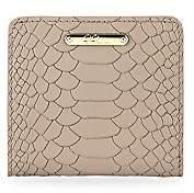 GiGi New York Women's Python Leather Mini Folding Wallet