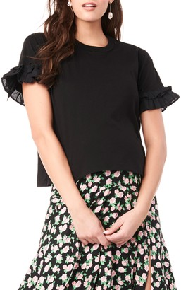 Loyal Hana Joey Ruffle Sleeve Maternity/Nursing T-Shirt