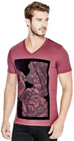 GUESS Floral V-Neck Tee