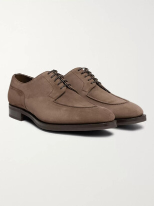Edward Green Dover Textured-Leather Derby Shoes - Men - Brown