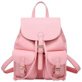 Bestqueen Women Soft Leather Fashionable Backpack Casual Daypacks Cute Shoulder Bag