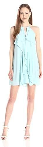 BCBGMAXAZRIA Women's Hattie Short Ruffle Dress