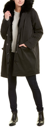 Adrienne Landau Hooded Coat
