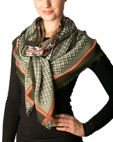 Pure Style Girlfriends Olive Geometric Square Scarf