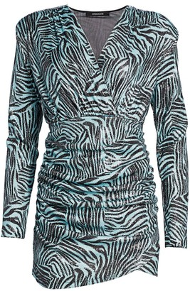 Andamane Colette Zebra Print Mini Dress