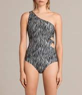 AllSaints Eulalia Zebra Swimsuit