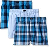 Kenneth Cole New York Men's 3-Pack Berry Woven Boxers