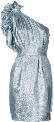 Stella McCartney One-Shoulder Belted Dress