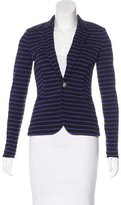Juicy Couture Striped Button-Up Blazer