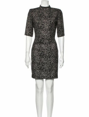 Alice + Olivia Animal Print Mini Dress Black