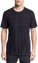 Lanvin Lacing-Front Short-Sleeve Tee, Navy