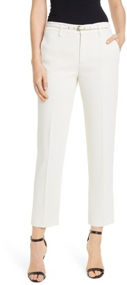 RED Valentino Belted Straight Leg Ankle Pants