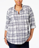 Style&Co. Style & Co. Plus Size Plaid Shirt, Only at Macy's