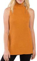 Kensie Ribbed Sleeveless Turtleneck Sweater