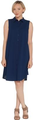 Joan Rivers Classics Collection Joan Rivers Petite Length Sleeveless Seersucker Shirt Dress