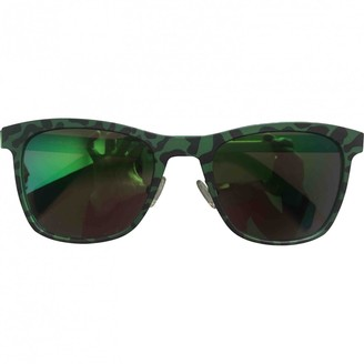 Italia Independent Black Metal Sunglasses
