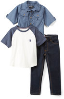 English Laundry Blue Button-Up & Tee Set - Infant, Toddler & Boys