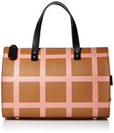 Orla Kiely Printed Leather Ella Top Handle Bag