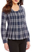 William Rast Fairah Plaid Button-Front Blouse