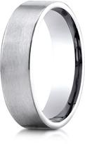 Ice Platinum 6mm Comfort-Fit Satin-Finished Carved Design Wedding Band