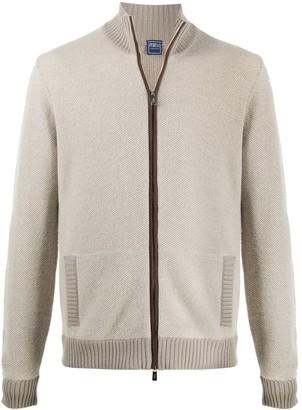 Fedeli Zipped Ribbed Cuff Sweater