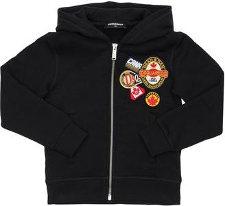 DSQUARED2 Zip-up Sweatshirt Hoodie W/ Patches