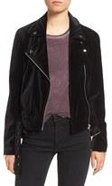 Paige Women's Shanna Velvet Moto Jacket