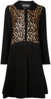 Alberta Ferretti leopard pattern coat - women - Cotton/Polyamide/Acetate/Virgin Wool - 42