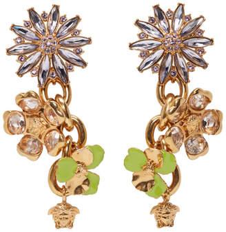 Versace Gold and Purple Crystal Chandeliers Earrings