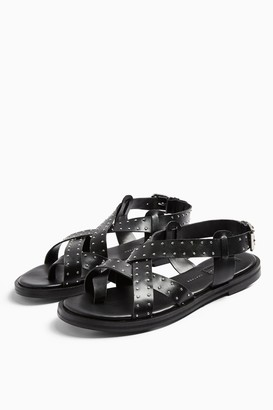 Topshop PAIGE Black Leather Sandals