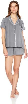 Splendid Women's Rayon Sleeve Top and Short Classic Pajama Set Pj