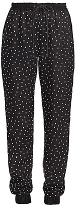 Sacai Side-Stripe Polka Dot Pants
