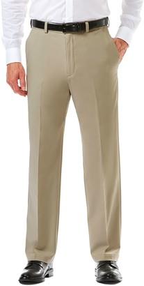 Haggar Big & Tall Cool 18 PRO Straight-Fit Wrinkle-Free Flat-Front Super Flex Waist Pants