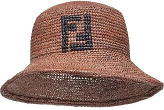 Fendi Motif Detail Woven Bucket Hat