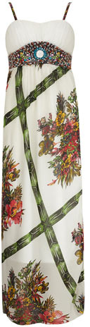Dorothy Perkins Multi green maxi dress