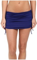 Badgley Mischka Solid Shirred Skirt