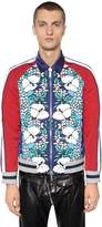 DSQUARED2 Floral Printed Nylon Bomber Jacket