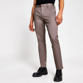 River Island Bruise purple slim fit chino trousers