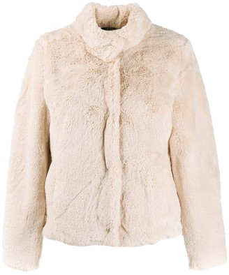 Lauren Ralph Lauren Faux-Fur Fitted Jacket