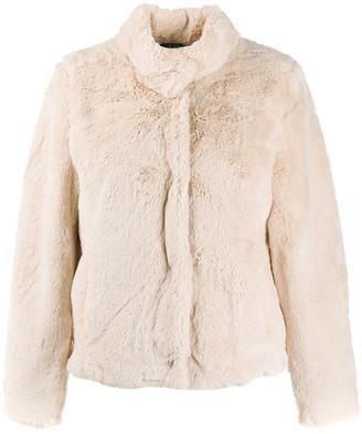 Lauren Ralph Lauren faux-fur fitted jacket