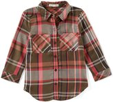 Copper Key Little Girls 4-6X Button-Front Plaid Tunic Top