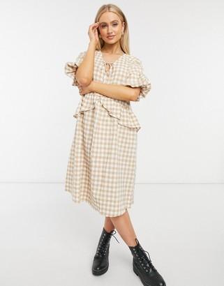 Moon River gingham oversized shift dress