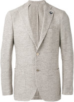 Lardini woven blazer - men - Silk/Linen/Flax/Wool - 46