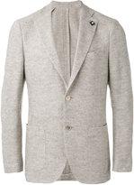Lardini woven blazer - men - Silk/Linen/Flax/Wool - 56
