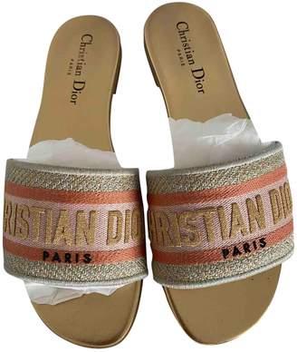 Christian Dior Dway Gold Cloth Sandals