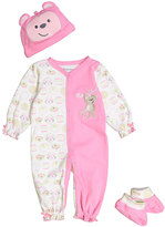 Buster Brown Pink Monkey Three-Piece Layette Set - Infant