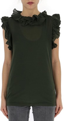 DSQUARED2 Frill Trim Sleeveless Blouse